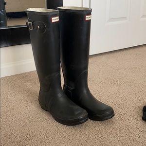 Tall, Black Hunter Boots